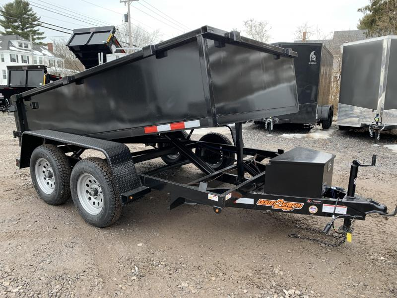 2020 D2E 7k gvwr 6x10 Hydraulic Dump Trailer/ Power up+Down