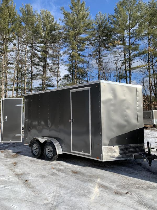 """SALE 2020 Pace 7X14 +2ft V Double doors/undercoated frame 12"""" extra height"""