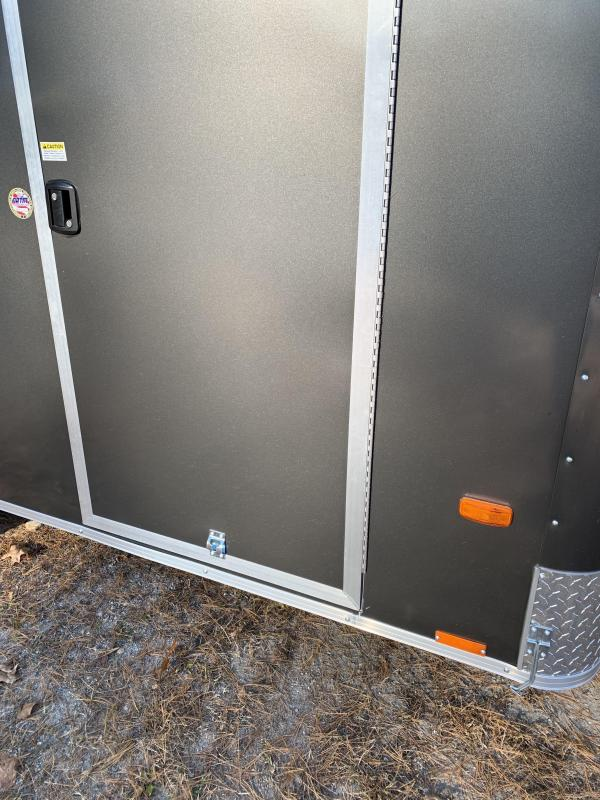 """New PACE 6X12 +2ft V trailer ramp door/undercoated frame/6"""" extra"""