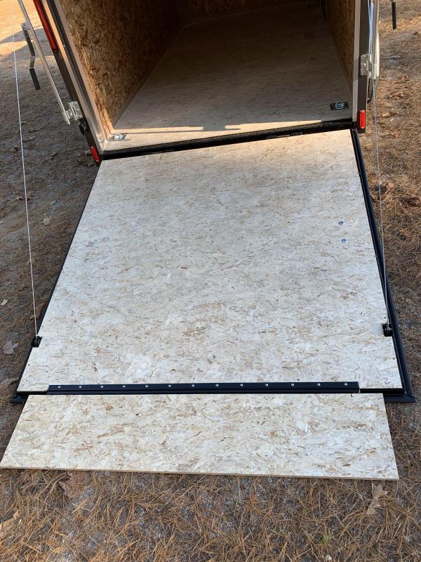 "New PACE 6X12 +2ft V trailer ramp door/undercoated frame/6"" extra"