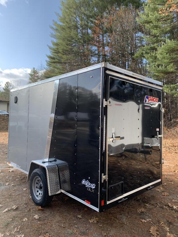 """SALE Pace 6X12 +2ft V trailer ramp door/undercoated frame/6"""" extra"""