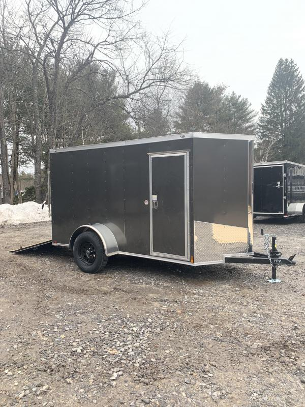 "2020 Spartan 5X10 +2ft V trailer ramp door/undercoated/6"" extra"