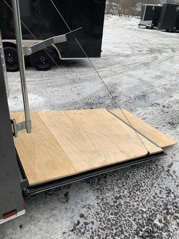"2020 Spartan 5X8 +2ft V trailer ramp door/undercoated/12"" extra height"