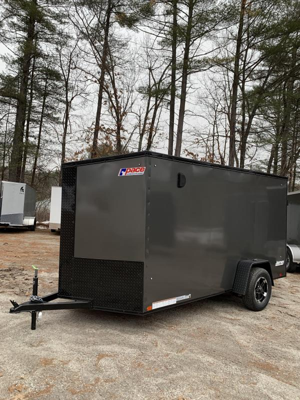 SALE 2020 Pace 6X12 +2ft V trailer ramp door/undercoated/blackout