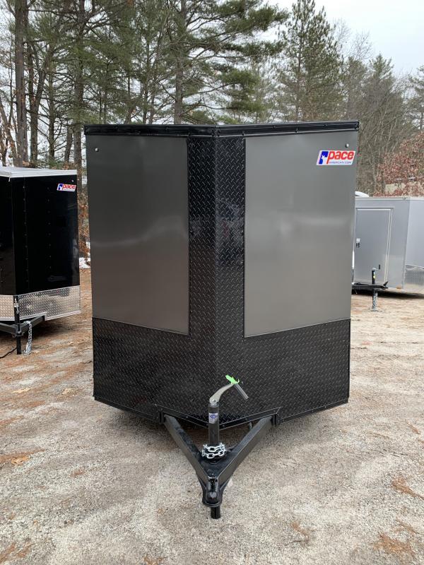 SALE 2020 Pace 6X12 +2ft V trailer ramp door/undercoated/blackout