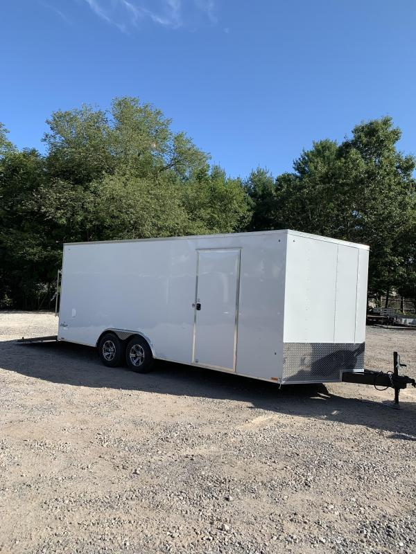 """SALE 2020 PACE 8.5x20 trailer w/12"""" extra height/16o.c./undercoated"""