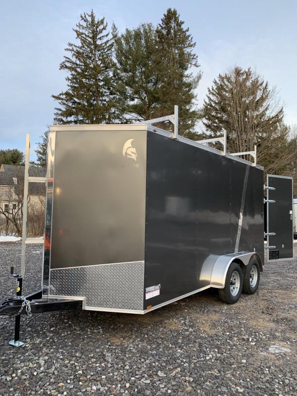 2020 Spartan 7x14 +2ft V Nose Trailer 110V pack / 7' interior