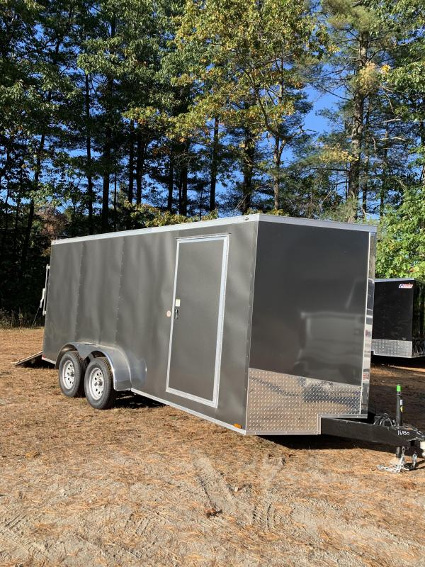 "New Spartan 7X16 +2ft V trailer ramp door/6"" extra height"