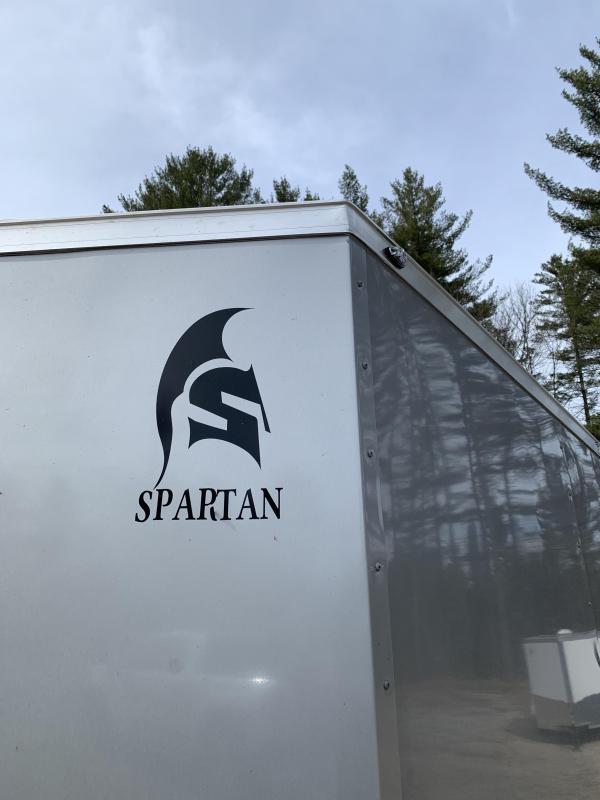 "2020 Spartan 7x16 +2ft V trailer DD doors/6"" extra height"