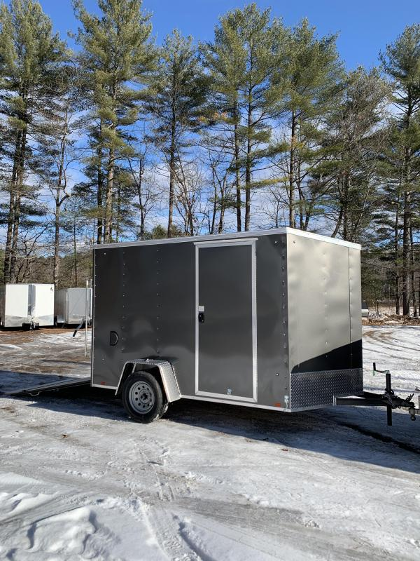 "SALE 2020 pace 6X10 +2ft V trailer ramp door/undercoated/6"" extra"