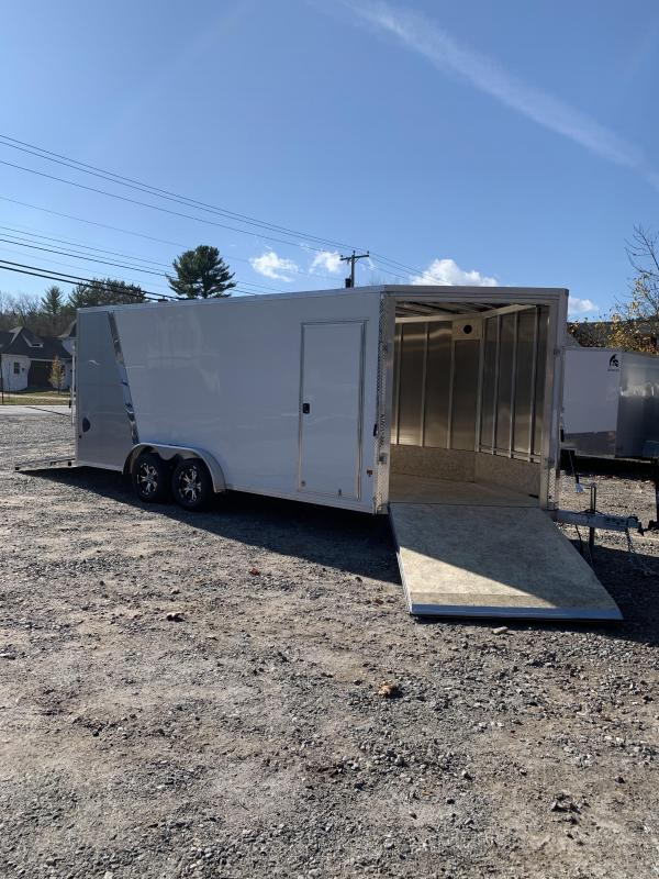 """2020 7.5x18 EZ hauler 3-Place Drive In/Out Snowmobile/Utv Trailer-12"""" extra height"""