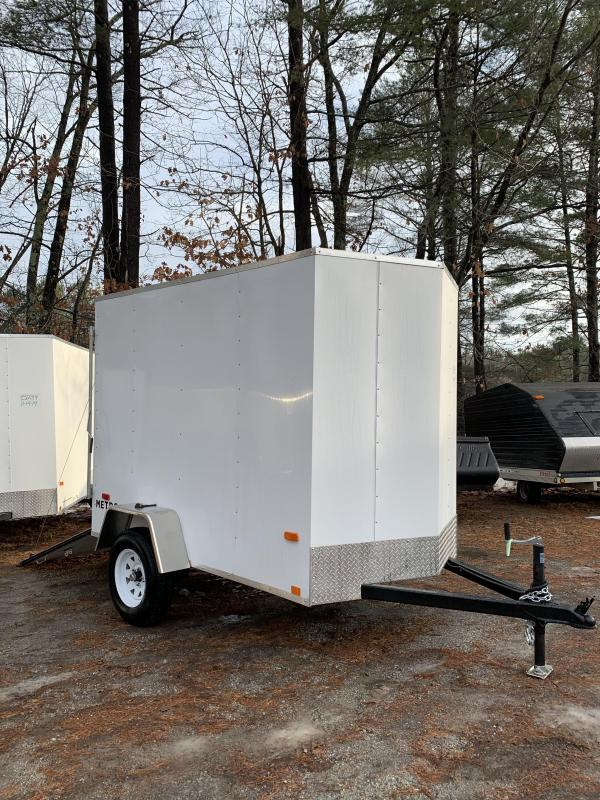 2020 PACE 5X8 +V-nose trailer ramp door/undercoated frame/6' interior