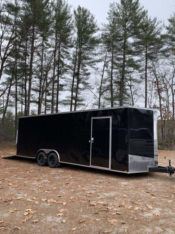 """2020 Spartan 8.5x24 +2ft V trailer 9990gvwr 12"""" Extra height/16""""o.c."""