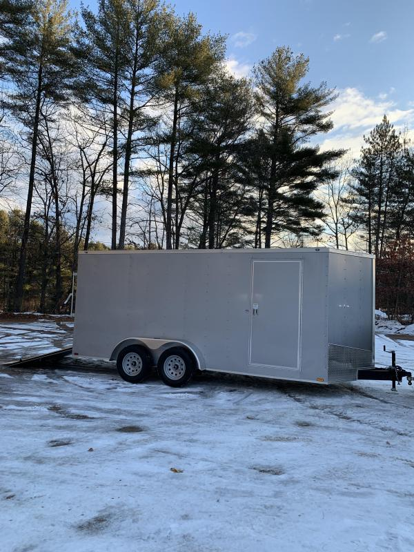 "SALE 2020 Spartan 7x16 +2ft V trailer ramp door/6"" extra height"