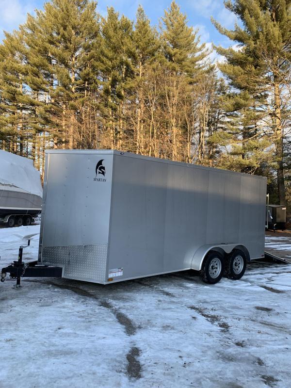 """SALE 2020 Spartan 7x16 +2ft V trailer ramp door/6"""" extra height"""