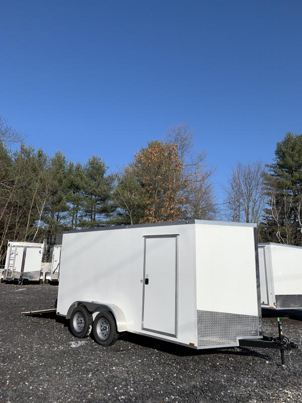 "2020 Spartan 7X14 +2ft V trailer ramp door 6"" extra height"