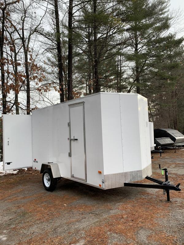 "2020 PACE Metro 6X12 +V-nose trailer barn door/undercoated frame/6"""