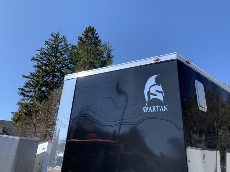 "2020 Spartan 8.5X18 +2ft V trailer/12"" extra height/7k gvw"