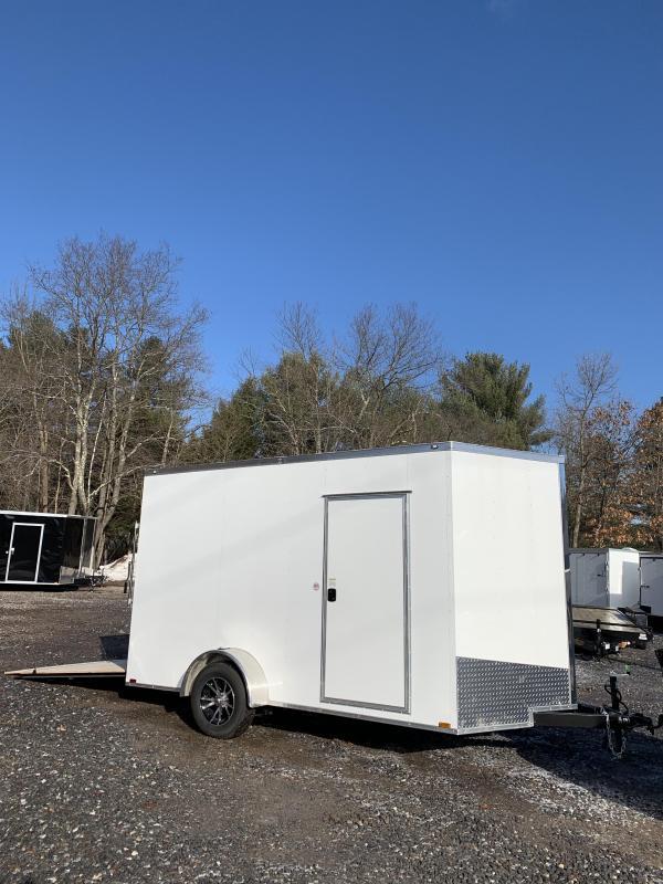 "SALE 2020 Spartan 7X12 +2ft V trailer ramp door/12"" extra height/brakes"