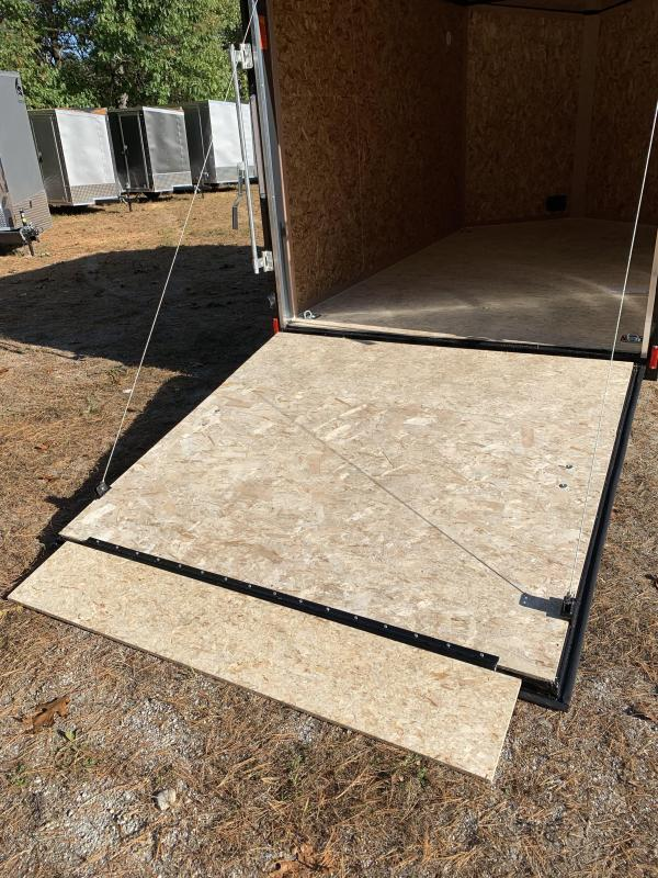 New PACE 7X12 +2ft V trailer ramp door/with brakes