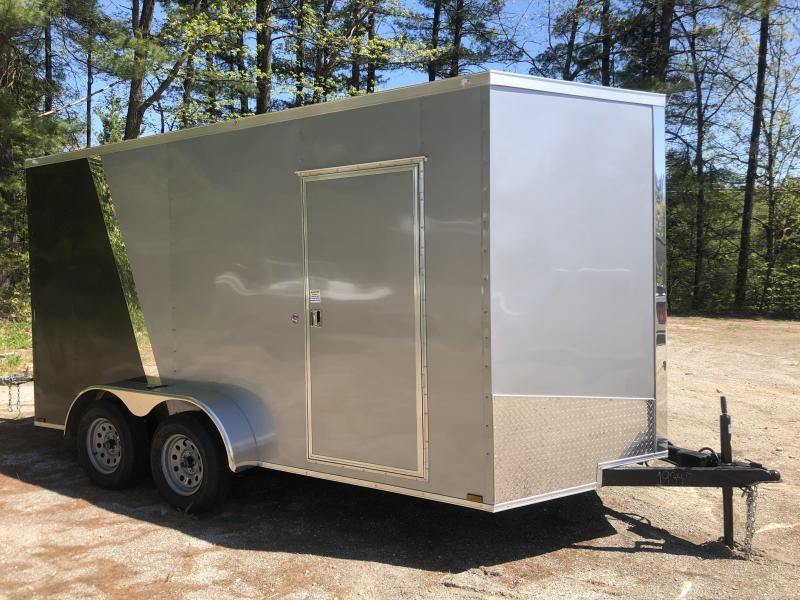 "2020 Spartan 7X14 +2ft V trailer ramp door/12"" extra height"