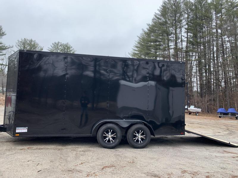"2020 Spartan 7x16 +2ft V / Black-out /12"" extra height"