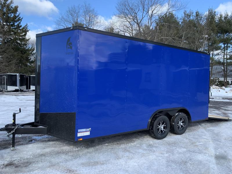 "2020 Spartan 8.5X16 +2ft V trailer/12"" extra height/16oc"