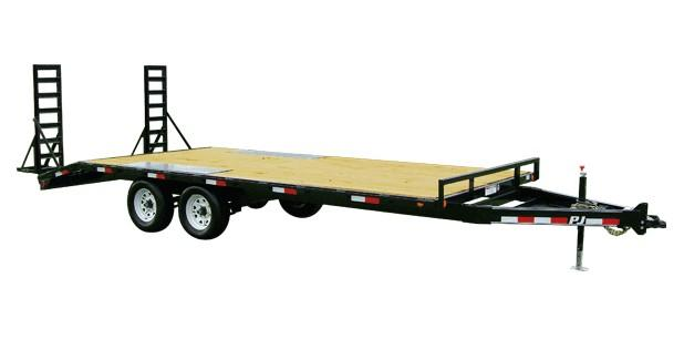 2019 PJ Trailers Medium Duty Deckover 6 in. Channel (L6) Flatbed Trailer