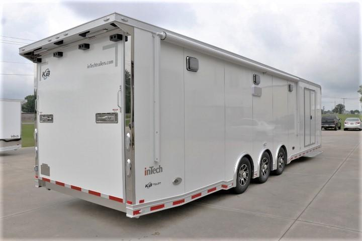 "2019 34' Custom inTech w/ Awning, 60"" Dbl Door, Stereo, Wheel Well Cabinet & More"