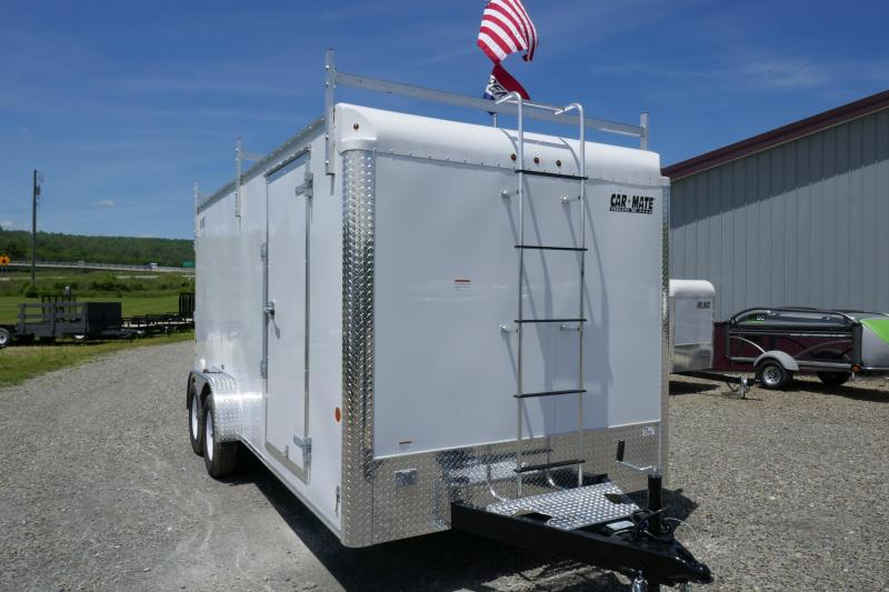 2019 Car Mate Trailers CM716CC-HD/CTR - 7W Tandem Axle Custom Cargo Contractor Trailer Enclosed Cargo Trailer