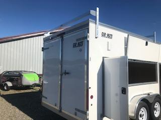 2019 Car Mate Trailers CM718CC-HD/CTR - 7W Tandem Axle Custom Cargo Contractor Trailer Enclosed Cargo Trailer