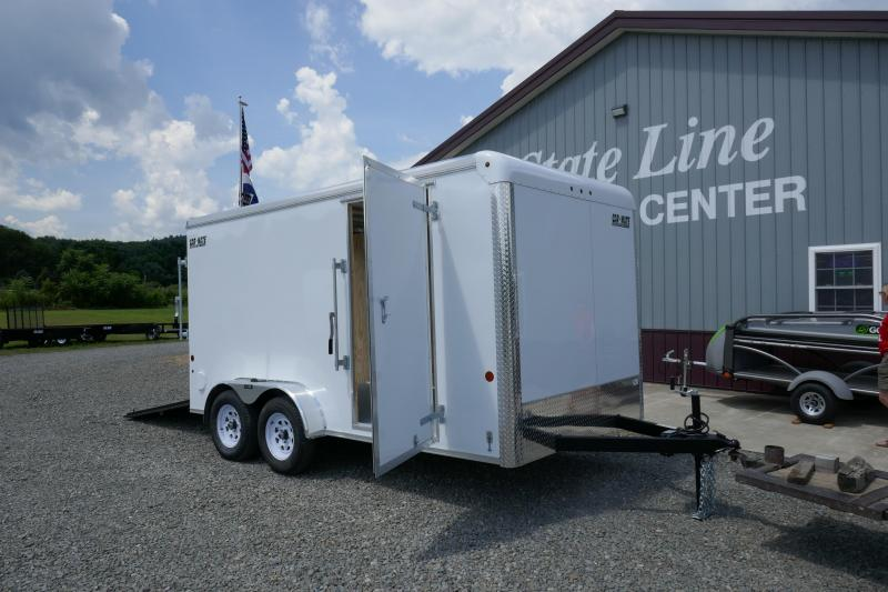 2019 Car Mate Trailers CM714CC-HD - 7'W Tandem Axle Custom Cargo Trailer Enclosed Cargo Trailer
