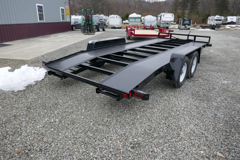 2020 Car Mate Trailers CM818A-CT/W Steel Runner Open Deck Car / Racing Trailer