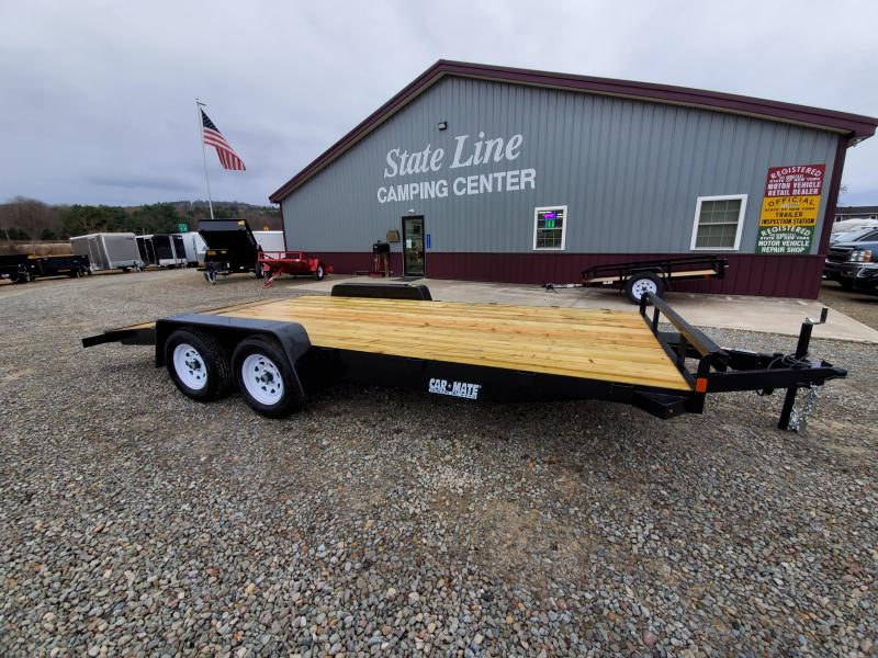 2020 Car Mate Trailers CM818A-CT/W Full Treated Plank Deck Car / Racing Trailer