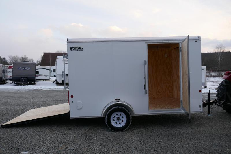 2019 Car Mate Trailers CM712LS Single Axle Enclosed Cargo Trailer