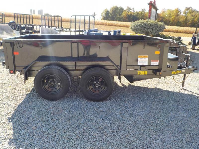 2020 Big Tex Trailers 70SR-10-5 WDD BK Dump Trailer
