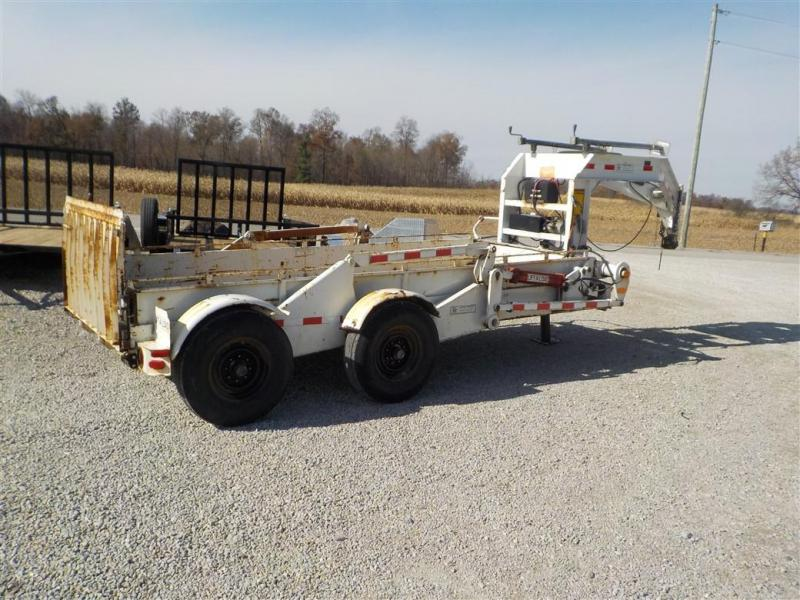 1996 LIFETIME EPT4-614 HYDRAULIC DROP DECK Equipment Trailer
