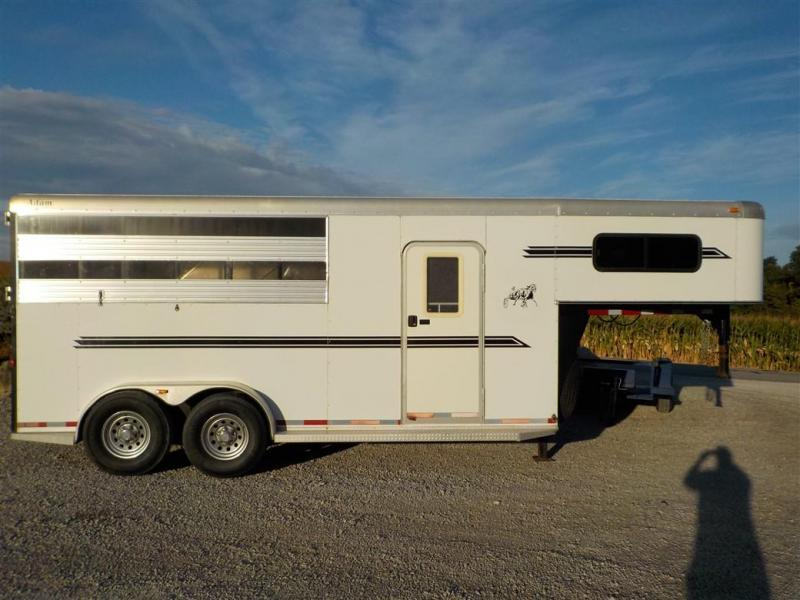 2009 ADAM by Dalton AS 370 3HGN Livestock Trailer **USED**