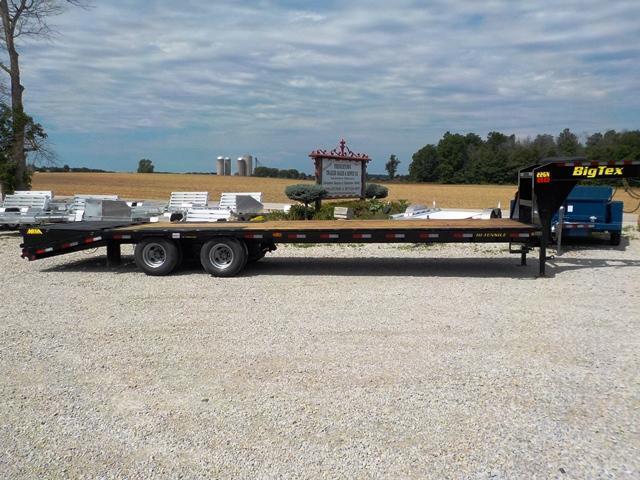 2019 Big Tex Trailers 22GN 28' + 5' BK MR LO-PRO Equipment Trailer