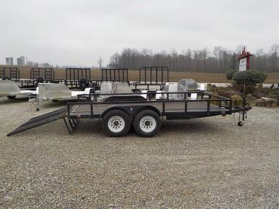 2002 Interstate Trailers INT 714 TA3 Equipment Trailer ** USED **