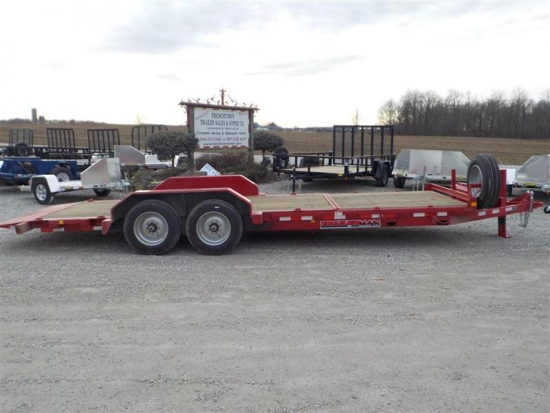 2020 Trailerman Trailers Inc. CTT 7616 N14 CUSHION TILT Equipment Trailer