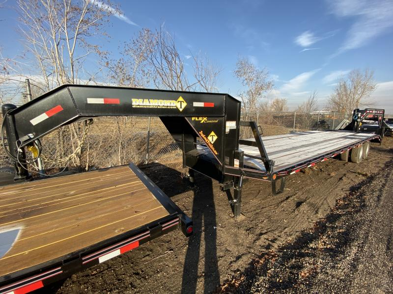 2019 DIAMOND T TRAILER 102-27+5TandemDualGooseneck Flatbed Trailer