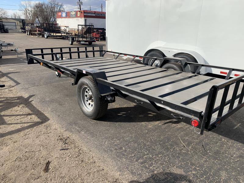 2020 ECHO TRAILERS 3 Place Wide ATV EEW-14-14 Flatbed Trailer