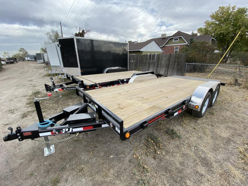 2020 PJ TRAILERS 83-18HeavyCarHaulerTILT Flatbed Trailer