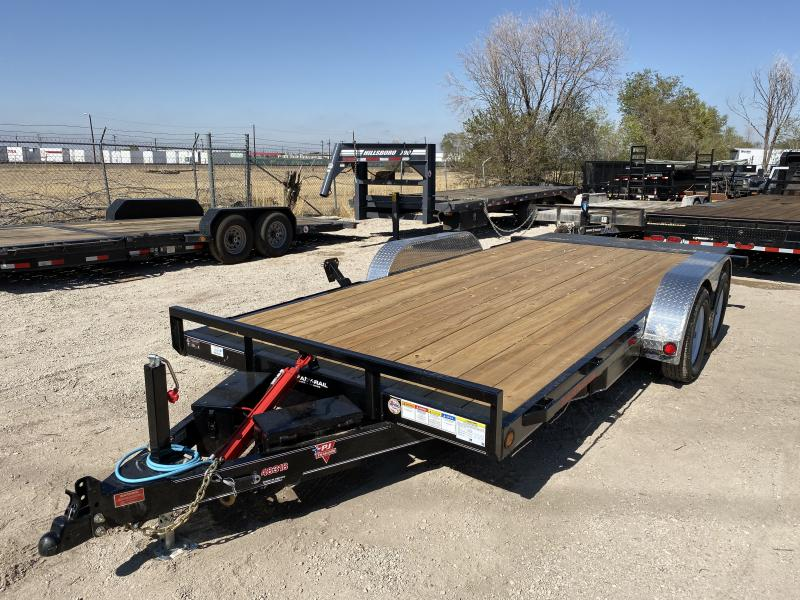 2020 PJ TRAILERS 83-18CarHaulerTILT Flatbed Trailer