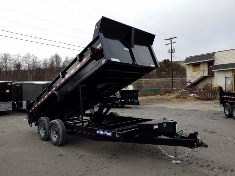 2020 Sure-Trac 7X16 14K SCISSOR - RAMPS Dump Trailer
