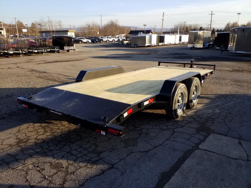 2020 Sure-Trac 7X18 10K WOOD DECK Car / Racing Trailer
