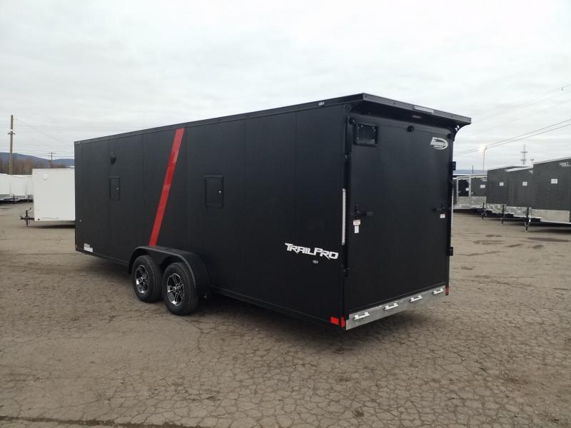 2020 Formula FASQ 7X27 ALUM BLACKED OUT Snowmobile Trailer
