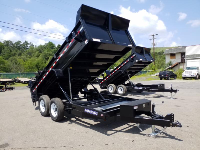 2019 Sure-Trac 7X14 14K DUAL RAM Dump Trailer