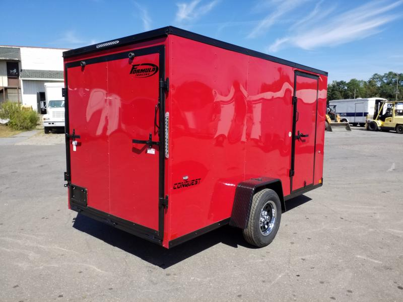 2020 Formula CONQUEST 6X12 BLACK OUT Enclosed Cargo Trailer